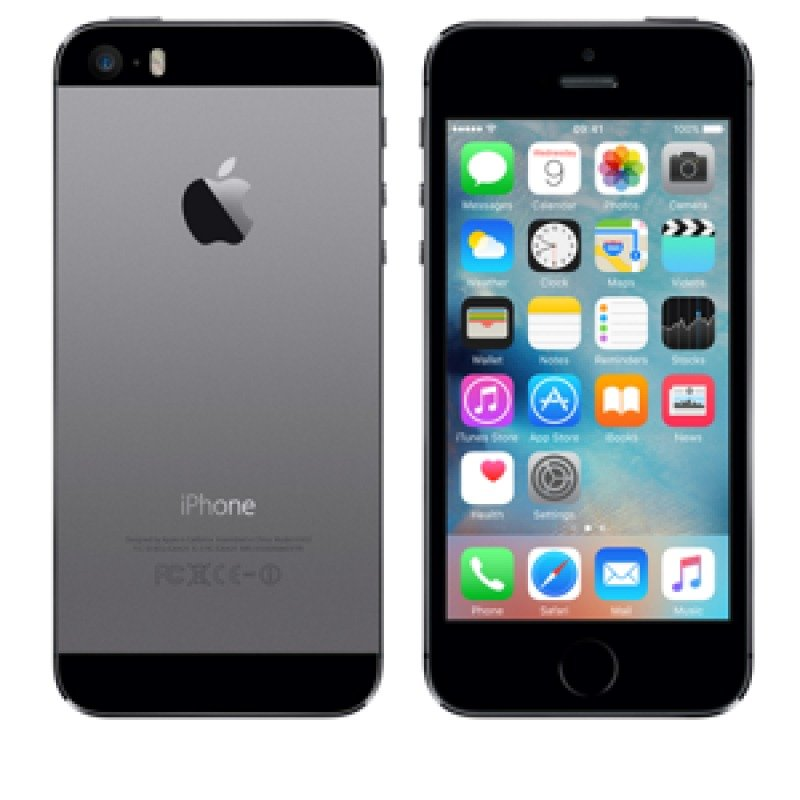 """iPhone 5s  4G  16GB  4""""  1136 x 640 pixels ( 326 ppi )  Retina  Apple A7 64bit  8 Mpix ( 1.2Mpix front camera )  iOS 9  SPACE GREY"""