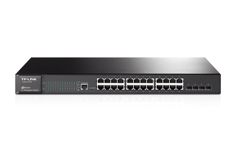 Tp-link T1600g-28ts 24-port Gigabit Smart Switch With 4 Sfp Slots black