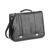 "Falcon Flapover 15.6""  Briefcase -  Black"