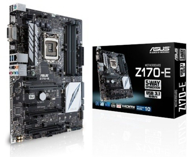 Asus Z170E Socket 1151 DVI HDMI 8 Channel Audio ATX Motherboard