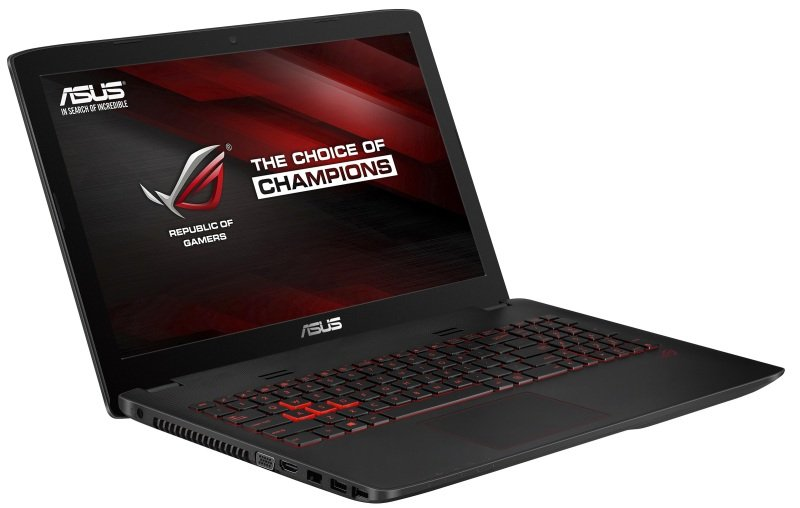 Image of Asus GL552VW Gaming Laptop, Intel Core i7 6700HQ 2.6GHz, 8GB RAM, 1TB HDD, 256GB SSD, 15.6 FHD LED, DVDRW, NVIDIA GTX 960M, WIFI, Bluetooth, Webcam, Windows 10 64