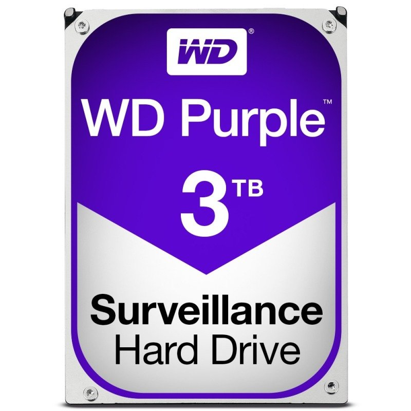 "WD PURPLE 3TB 3.5"" SATA Surveillance Hard Drive"
