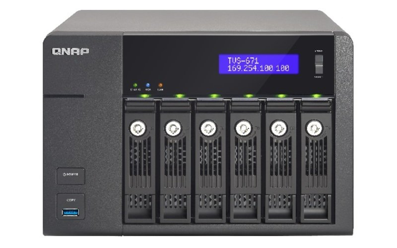 Image of QNAP TVS-671-I5-8G/12TB-RED 6 Bay NAS