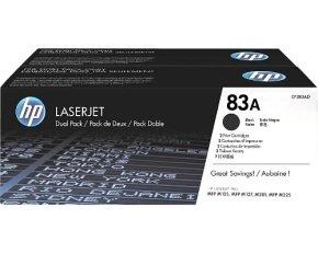 HP 83A Black Dual Pack LaserJet Toner Cartridges - CF283AD