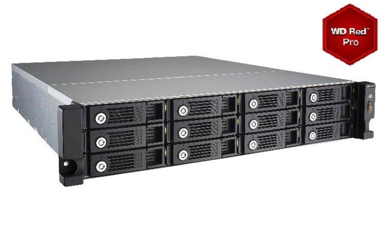 QNAP TVS-1271U-RP-PT-4G 72TB (12 x 6TB) WD Red Pro 12 Bay 2U Rack NAS