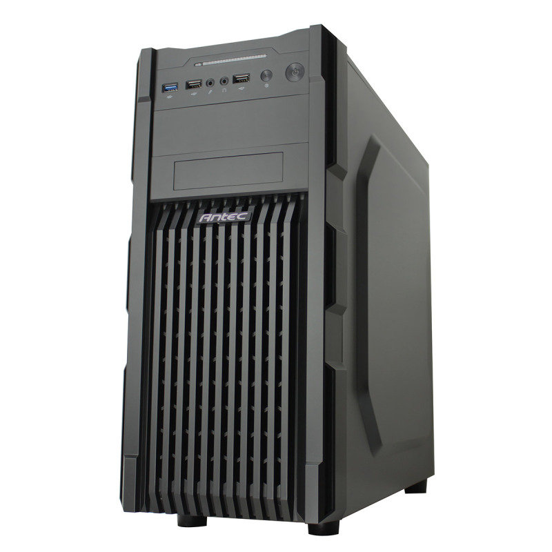 Antec GX-200 USB3 Black Interior Vented Fascia Midi Gaming Case - No Window