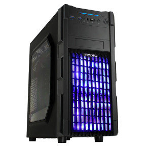 Antec GX-200 USB3 Vented Fascia Blue Led Front Fans Midi Gaming Case