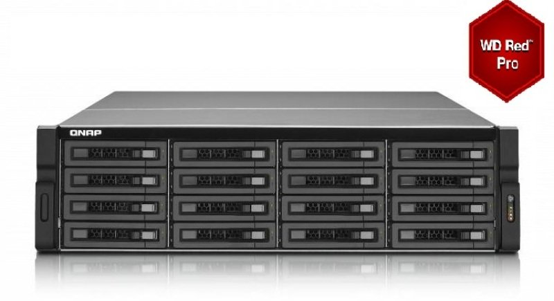 QNAP TS-EC1679U-RP 96TB (16 x 6TB) WD Red Pro 16 Bay 3U Rack NAS