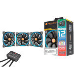 Thermaltake Riing12 Led RGB Fan 256 Colour 120mm with Fan Switch 3 Pack
