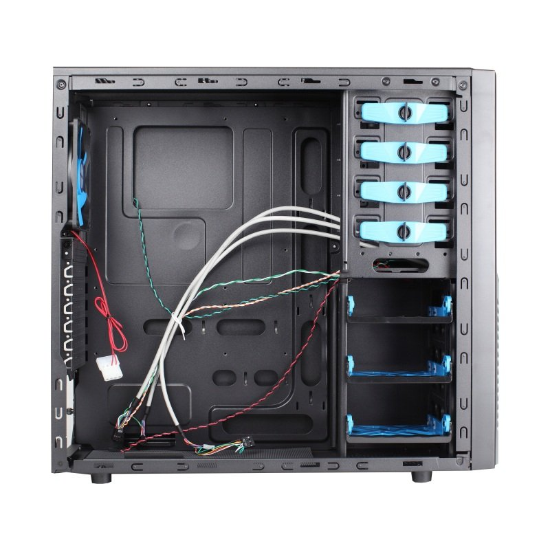 AvP Triton Mid Tower Case Black Blue 12cm LED Front Fan