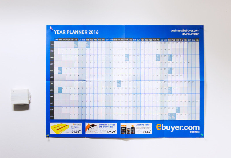 Image of Ebuyer.com 2016 Wall Planner