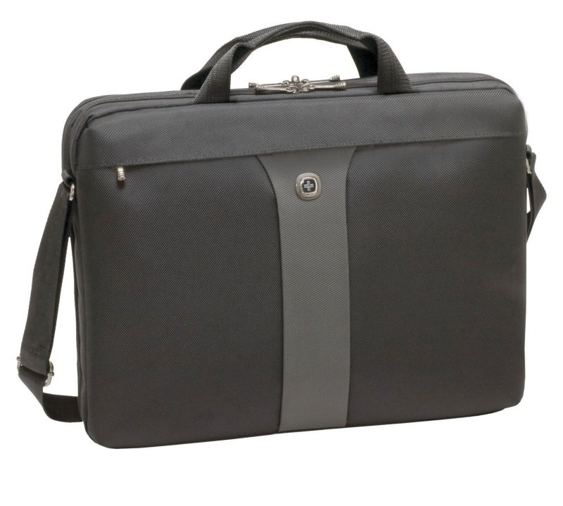 "Wenger Legacy Double Slimcase 17"" Laptop Bag Black"