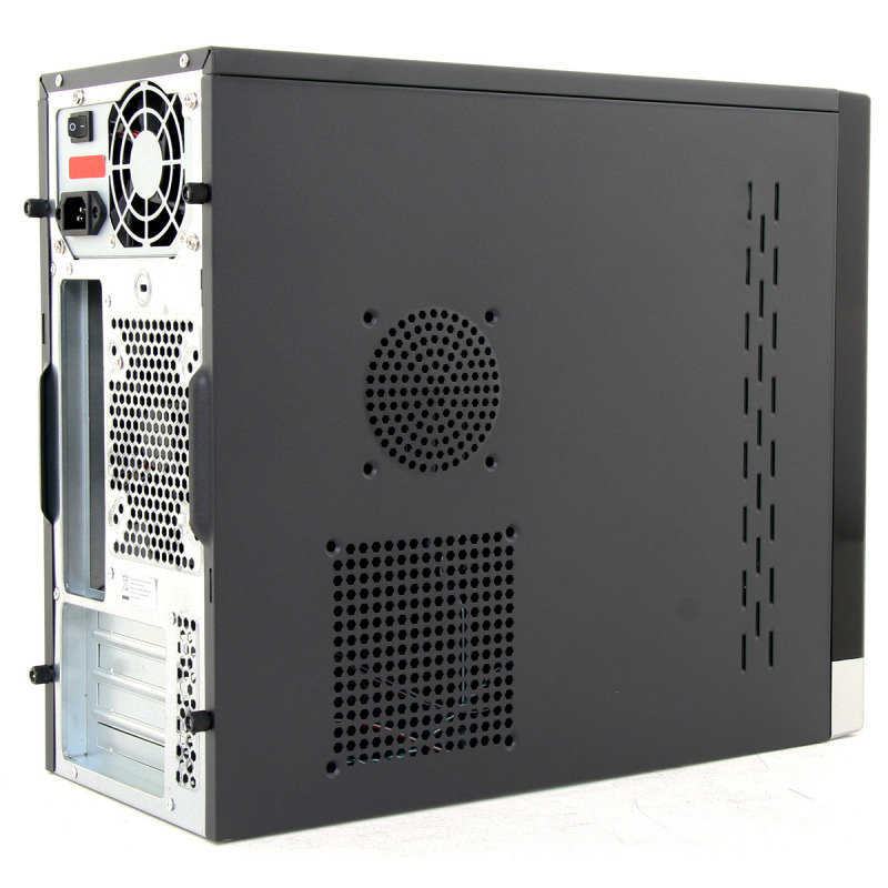 CIT 1015BS Gloss Black/Silver Micro ATX Case 500W PSU