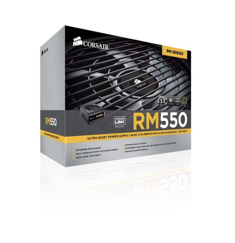 Corsair RM 550W Fully Modular 80+ Gold Power Supply