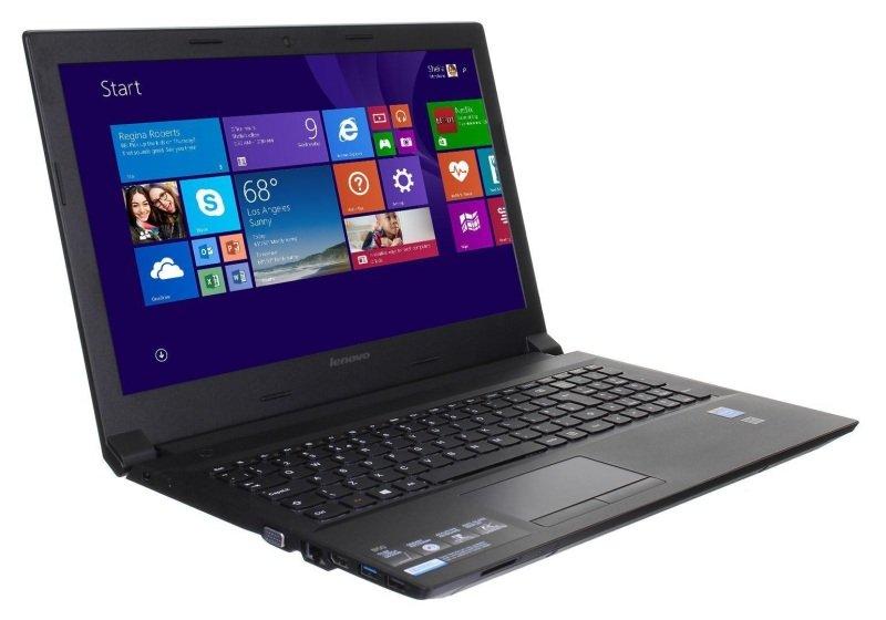 """Image of Lenovo Essential B50-10 Laptop, Intel Celeron N2840 2.16GHz, 2GB RAM, 250GB HDD, 15.6"""" LED, DVDRW, Intel HD, WIFI, Webcam, Bluetooth, Windows 10 Home"""