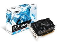 EXDISPLAY MSI Radeon R7 360 2GB GDDR5 Dual-link DVI-I HDMI DisplayPort PCI-E Graphics Card