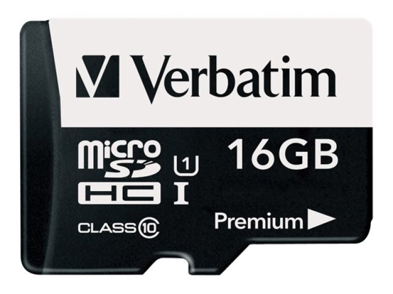 Verbatim Micro SD Class 10 16GB Memory Card + Adaptor