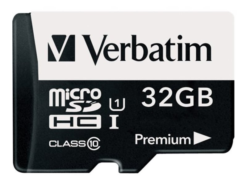 Verbatim Micro SD Class 10 32GB Memory Card + Adaptor