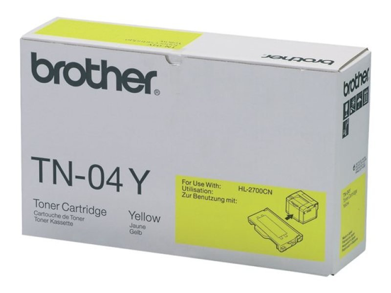 Brother TN04Y Yellow Toner Cartridge 6600 Pages