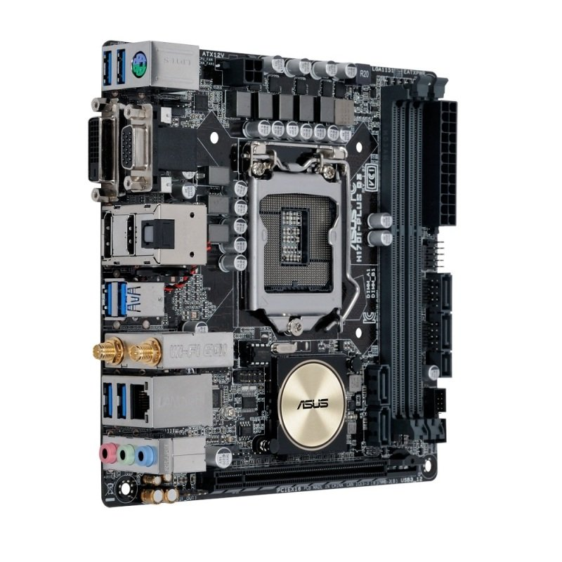 Asus H170I-PLUS D3 Socket 1151 VGA DVI-D HDMI DisplayPort 7.1-Channel HD Audio Mini ITX Motherboard