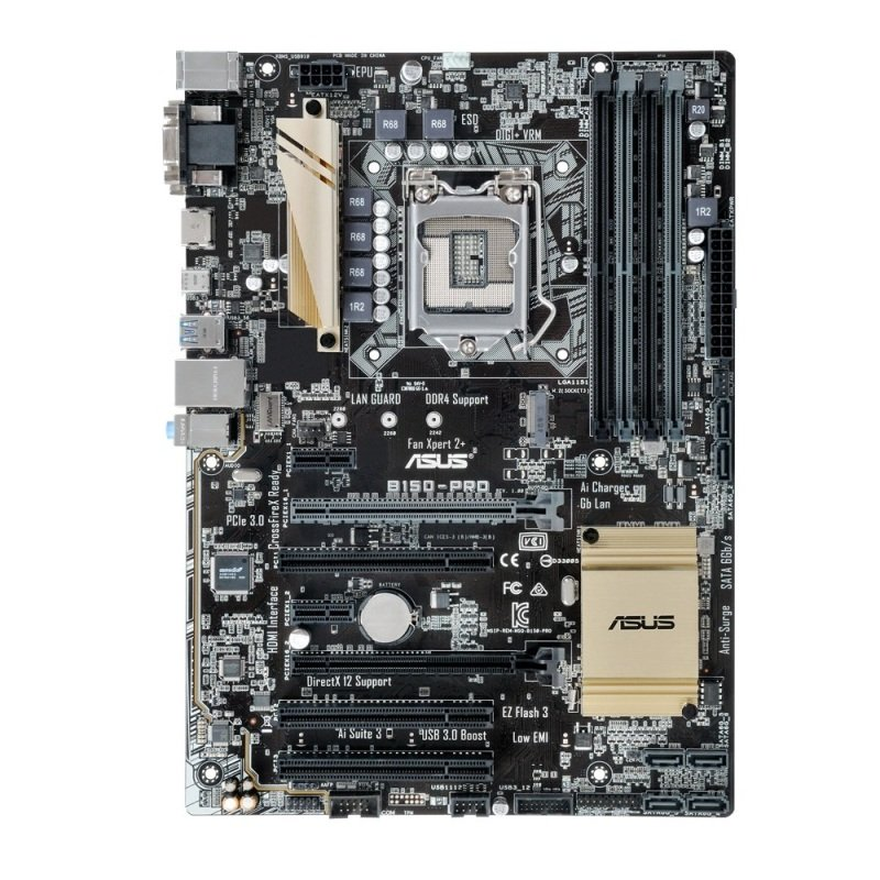 Asus B150-PRO Socket 1151 VGA DVI-D HDMI 8-Channel HD Audio ATX Motherboard