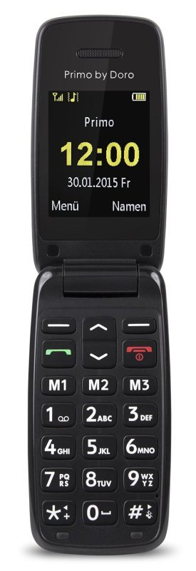 "Image of Doro Primo 401 2"" 115g Black - mobile phones (Single SIM, Alarm clock, Calculator, Calendar, Events reminder, Lithium-Ion (Li-Ion), GSM, 220 x 176 pixels, MicroSD (TransFlash))"