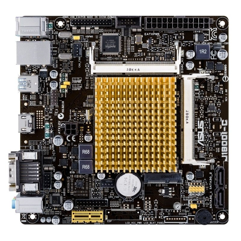Asus J1800I-C Intel Celeron VGA HDMI 8-Channel HD Audio Mini ITX Motherboard