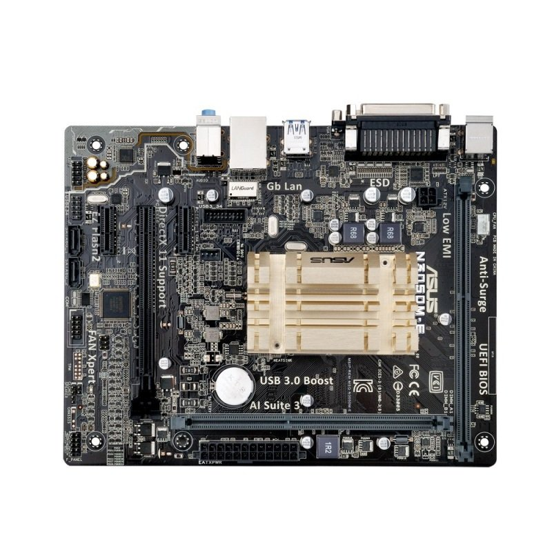 Asus N3050ME Socket Intel Celeron Dualcore N3050 VGA HDMI 8channel audio mATX Motherboard