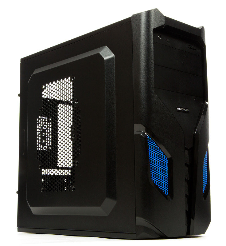Image of Raidmax EXO ATX-108BU Black/Blue Steel / Plastic ATX Mid Tower Computer Case