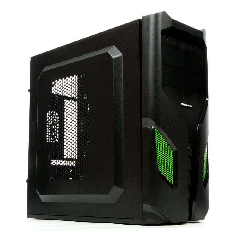 Image of Raidmax EXO ATX-108BG Black/Green Steel / Plastic ATX Mid Tower Computer Case