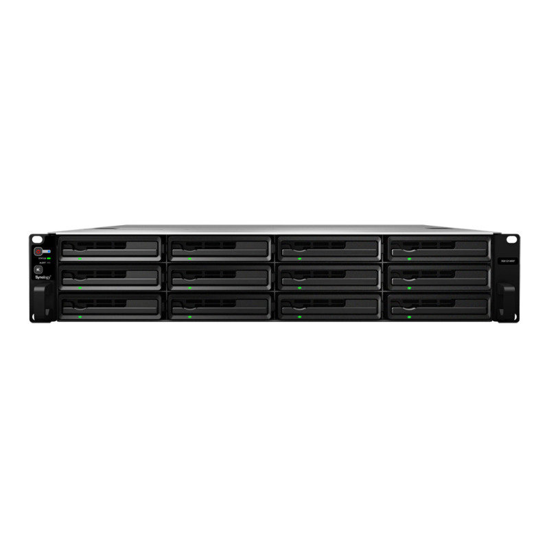 Synology RS214 10TB (2 x 5TB WD Red Pro) 2 Bay 1U Rackmount NAS