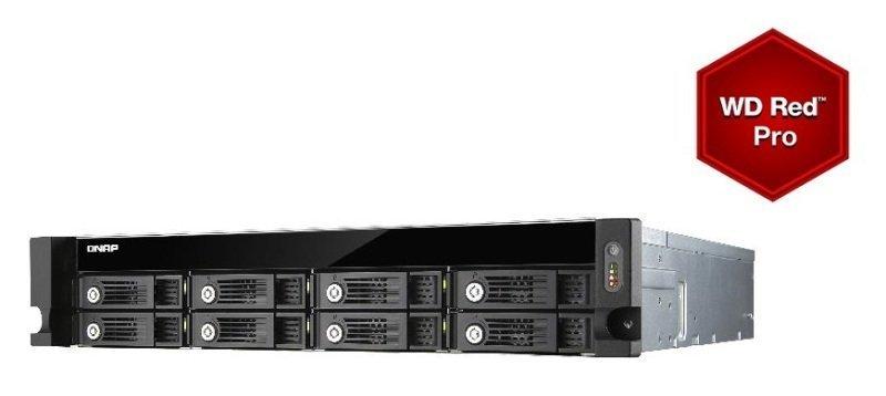 QNAP TVS-871U-RP-i3 4GB RAM 40TB (8 x 5TB) WD Red Pro 8 Bay 2U Rack NAS