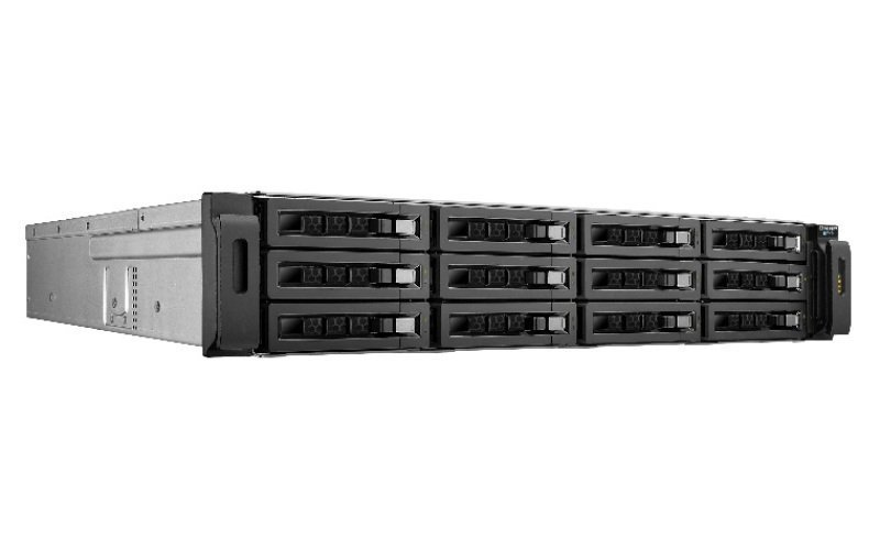 QNAP REXP-1220U-RP 60TB (12 x 5TB WD Red Pro) 12 Bay Rackmount Expansion Unit