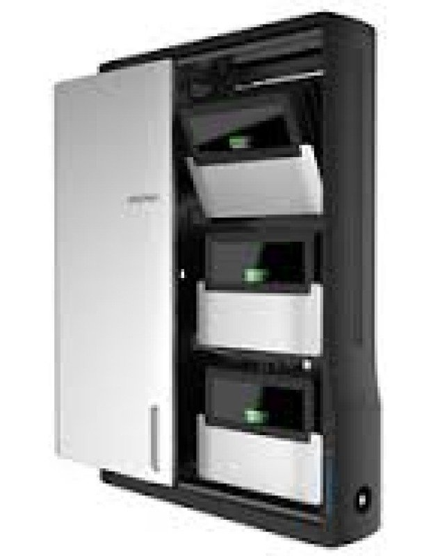 Image of Ergotron Zip12 Charging Wall Cabinet - Cabinet Unit For 12 Netbooks/tablets - Black, Silver - Screen Size: Up To 12 - Wall-mountable