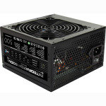 EXDISPLAY Aerocool Integrator 500W 80+ Certified PSU 12cm Black Fan Active PFC TW Caps UK Cable