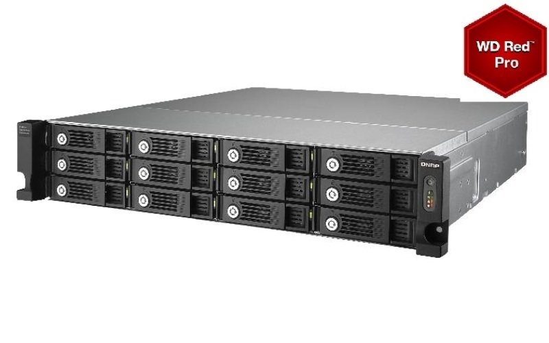 QNAP UX-1200U-RP 60TB (12 x 5TB WD RED PRO) 12 Bay RAID Expansion Unit
