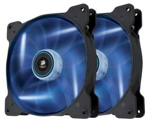 EXDISPLAY Corsair Air Series SP140 LED Blue High Static Pressure 140mm Fan Twin Pack