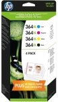 HP 364XL Colour Combo Pack Ink Cartridges - J3M83AE