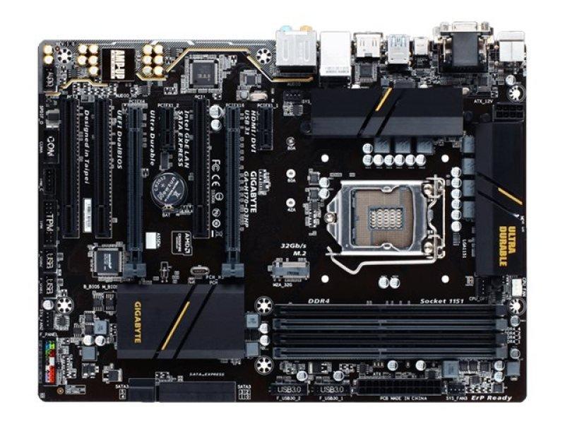 EXDISPLAY Gigabyte H170-D3HP Socket LGA1151 VGA DVI-D HDMI ATX Motherboard