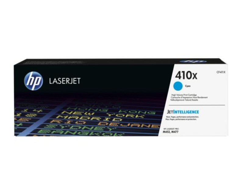HP 410X High Yield Cyan Original LaserJet Toner Cartridge - CF411X