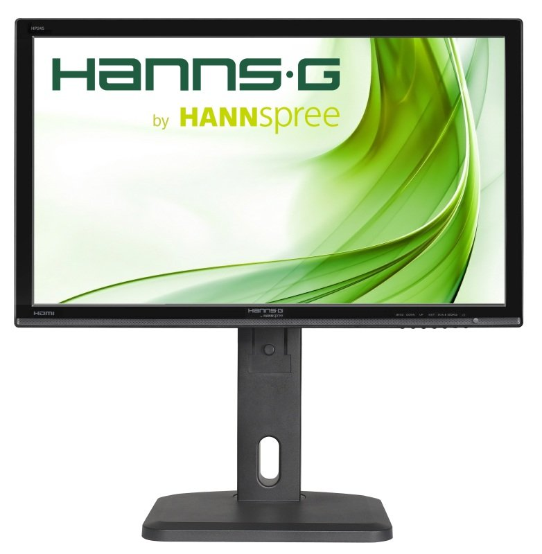 Hannspree Hp245hjb 23.8 Inch Ips  Hdmi  Dvi  Speakers  Height Adjust And Pivot