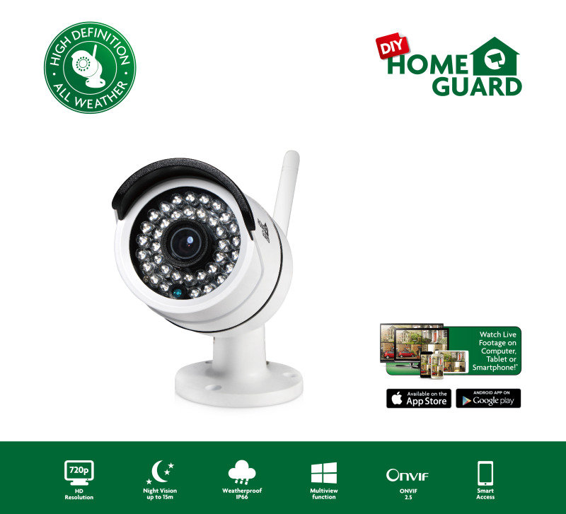 HomeGuard All Weather Outdoor HD 720P Wireless Camera
