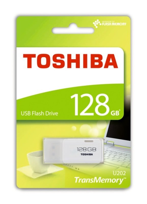 Toshiba Transmemory U202 128GB USB Flash Drive - White