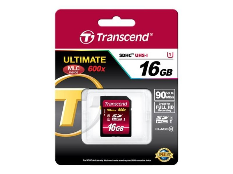 Transcend 16GB Secure Digital High Capacity Card