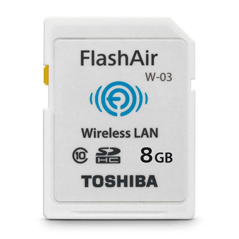 Image of Toshiba 8GB FlashAir W-03 Class 10 Wireless LAN SD Card