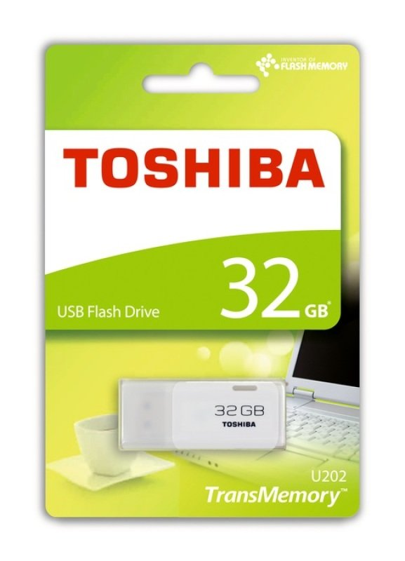 Toshiba 32GB TransMemory U202 USB Flash Drive - White