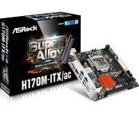 ASRock H170M-ITX/ac Socket 1151 DVI-D HDMI 7.1 CH HD Audio Mini-ITX Motherboard