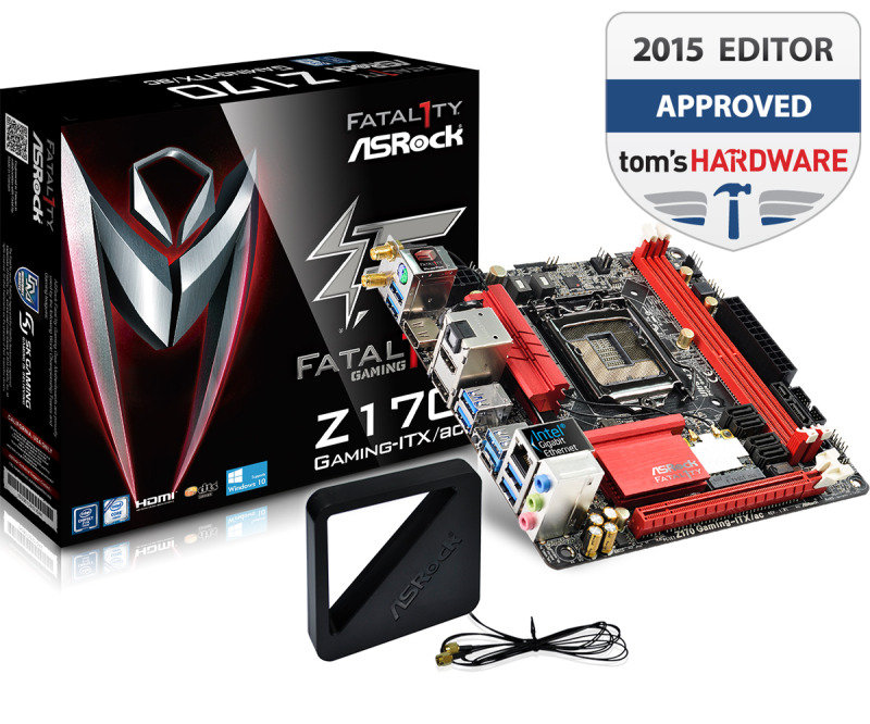 ASRock Fatal1ty Z170 Gaming-ITX/ac Socket 1151 HDMI DIsplayPort 7.1 CH HD Audio Mini-ITX Motherboard