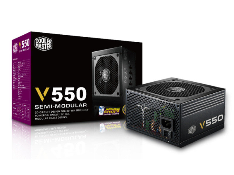 Coolermaster V550 Semi-Modular 80 PLUS Gold Power Supply