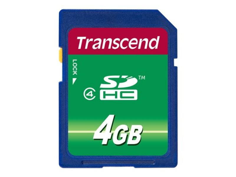 Transcend 4GB Secure Digital High Capacity Card